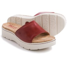 Born Benitez Sandals - Leather (For Women) in Fire Full Grain - Closeouts