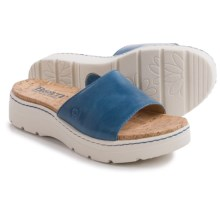 Born Benitez Sandals - Leather (For Women) in Sea Blue Full Grain - Closeouts