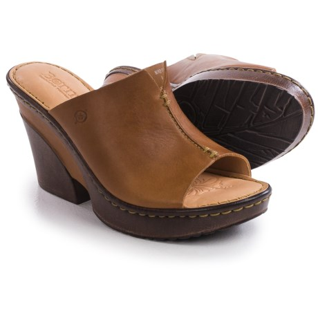 Born Birch Wedge Sandals Leather (For Women)