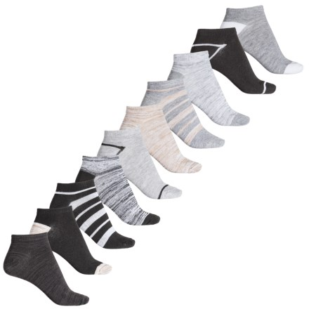 a98e9dec20be Born Black Stripes and Marled No-Show Socks- 10-Pack