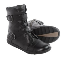 Born Calina Leather Boots (For Women) in Black Full Grain - Closeouts