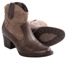 Born Capri Ankle Boots (For Women) in Brown Combo - Closeouts