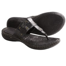 Born Cari Sandals - Leather (For Women) in Black Full Grain - Closeouts