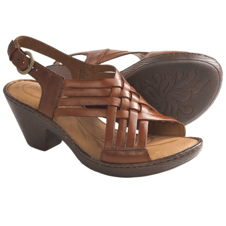 Born Carrine Sandals - Leather (For Women) in Bag Pipe Full Grain