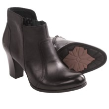 Born Claire Ankle Boots - Burnished Leather (For Women) in Black - Closeouts