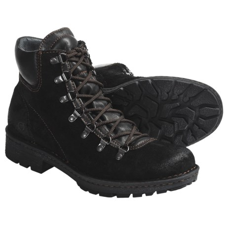 Born Convoy Boots - Suede, Lace-Ups (For Men) in Black Suede
