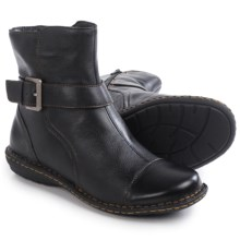 Born Cove Ankle Boots - Leather (For Women) in Black Full Grain - Closeouts