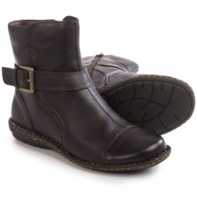 Born Cove Ankle Boots - Leather (For Women) in Espresso Full Grain - Closeouts