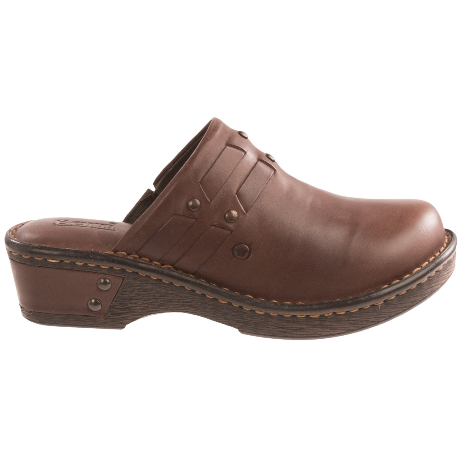 The leather traveltime clogs I ordered are fabulous. Fit just perfect in the wide width which I have to have. I loved them so much I ordered them in Navy and they also are great. Wish that they came in white leather and also a dark brown. Would recommend them everyone. They get a five star rating from me%.
