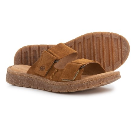 537638e1a85d Born Dominica Slide Sandals - Suede (For Women) in Tan Suede - Closeouts