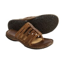 Born Ela Sandals - Leather Slides (For Women) in Natural - Closeouts