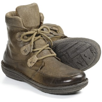 Born Emika Leather Boots (For Women) in Laurel