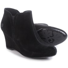 Born Faylan Wedge Boots - Suede (For Women) in Black Suede - Closeouts