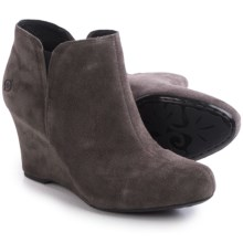Born Faylan Wedge Boots - Suede (For Women) in Grey Suede - Closeouts