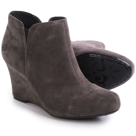 Born Faylan Wedge Boots Suede For Women