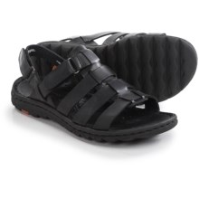 Born Florian Sandals - Leather (For Women) in Black Full Grain - Closeouts