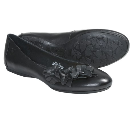 Born Gemma Ballerina Shoes (For Women) in Black Leather