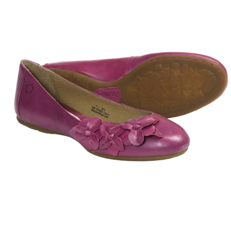 Born Gemma Ballerina Shoes (For Women) in Rose Leather