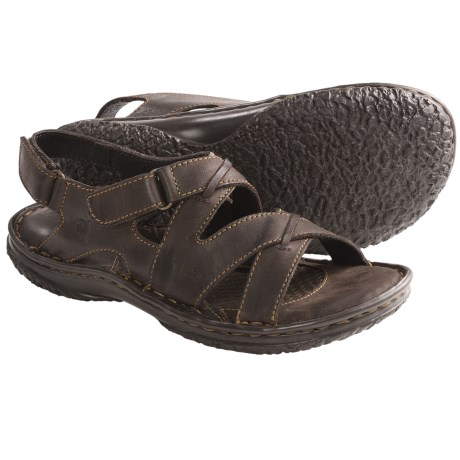 Born Gobi Sandals - Leather (For Women) in Dark Brown Full Grain
