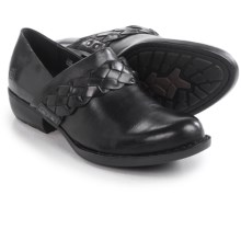 Born Hensley Closed-Back Clogs (For Women) in Black Full Grain - Closeouts