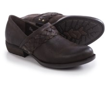 Born Hensley Closed-Back Clogs (For Women) in Dark Brown Oiled Suede - Closeouts