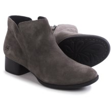 Born Holman Ankle Boots - Suede (For Women) in Grey Suede - Closeouts