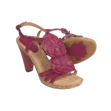 Born Hydrangea Sandals - Leather (For Women) in Raspberry - Closeouts