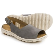 Born Ivana Sling-Back Sandals - Leather (For Women) in Grey Full Grain - Closeouts