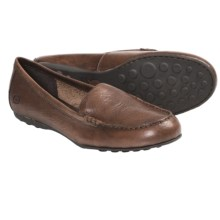 Born Joanie Shoes - Leather, Slip-Ons (For Women) in Tan Burnished Leather - Closeouts