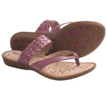 Born Joya Sandals - Leather (For Women) in Bordo Burnished - Closeouts