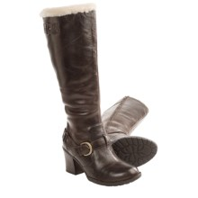 Born Kamana Tall Boots - Shearling Lining (For Women) in Canoe - Closeouts
