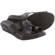 Born Kapri Leather Sandals (For Women) in Black Full Grain - Closeouts