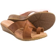 Born Kapri Leather Sandals (For Women) in Camel Full Grain - Closeouts
