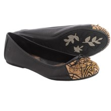 Born Karmina Ballet Flats - Leather (For Women) in Black Nappa - Closeouts