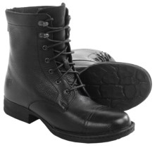 Born Kelisa Lace Boots - Leather (For Women) in Black Full Grain - Closeouts