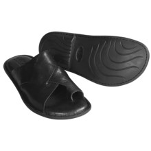 Born Lagan Leather Slide Sandals (For Men) in Black - Closeouts