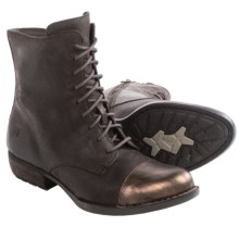 Born Lookis Lace Boots - Oiled Suede (For Women) in Castagno/Bronze Combo - Closeouts