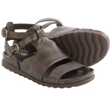 Born Lyla Leather Sandals (For Women) in Bronze Metallic - Closeouts