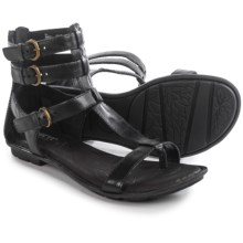 Born Marcia Gladiator Sandals - Leather (For Women) in Black Full Grain - Closeouts