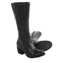 Born May Tall Leather Boots (For Women) in Black Full Grain - Closeouts