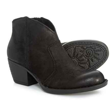 Born Michel Ankle Bootie - Leather (For Women) in Black Distressed - Closeouts