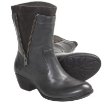 Born Mila Boots - Leather (For Women) in Charcoal - Closeouts
