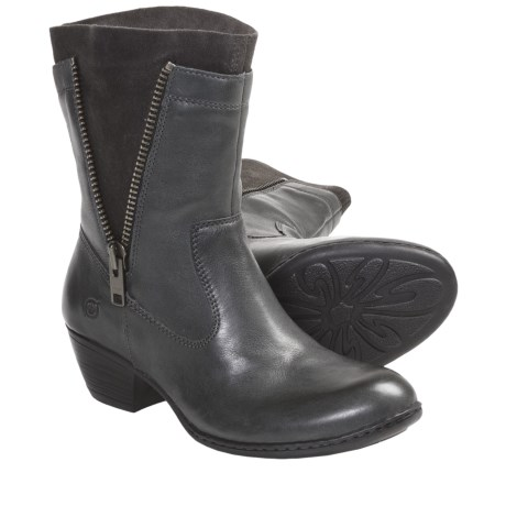 Born Mila Boots - Leather (For Women) in Charcoal
