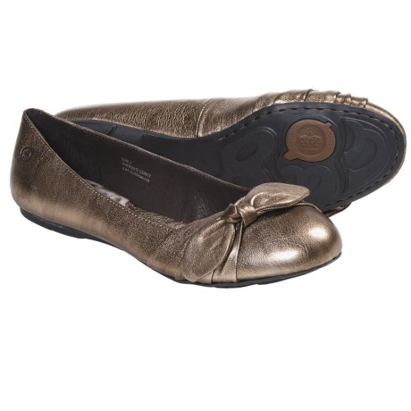 Born Molly Shoes - Leather, Slip-Ons (For Women) in Gold Metallic
