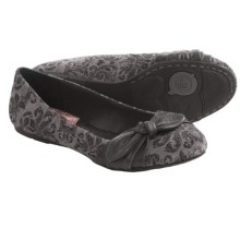 Born Molly Shoes - Leather, Slip-Ons (For Women) in Grey Printed Suede - Closeouts