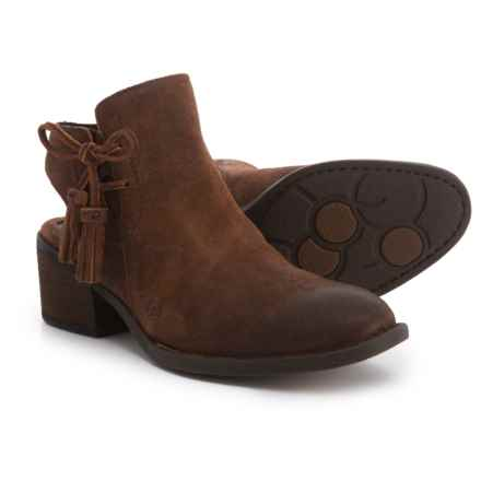 Born Monikah Booties - Leather (For Women) in Rust Tobacco Distressed - Closeouts
