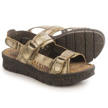 Born Neda Sandals - Leather (For Women) in Gold Metallic - Closeouts