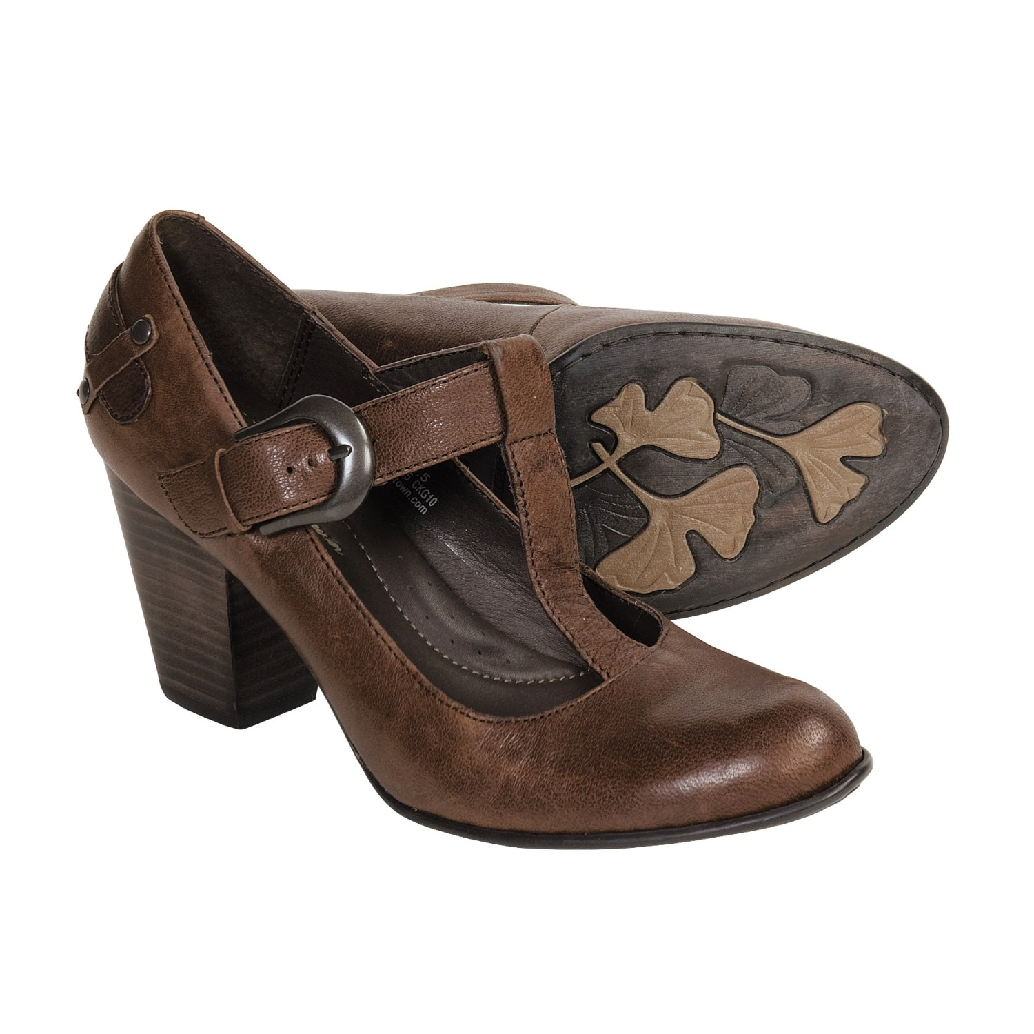 Born Ofelia Bay Vintage T-Strap Shoes (For Women) in Bay Brown