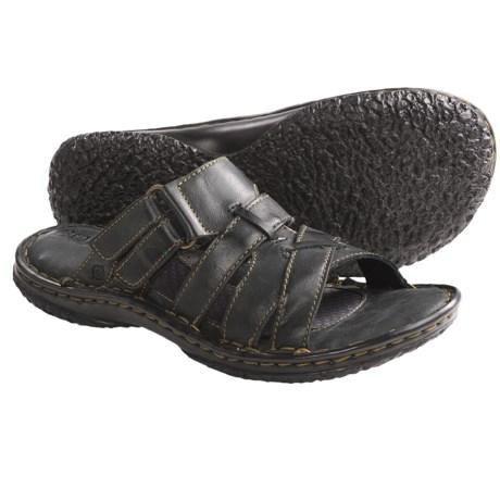 Born Panga Sandals - Leather (For Women) in Black Full Grain