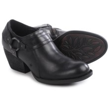 Born Peck Leather Shoes - Slip-Ons (For Women) in Black Full Grain - Closeouts